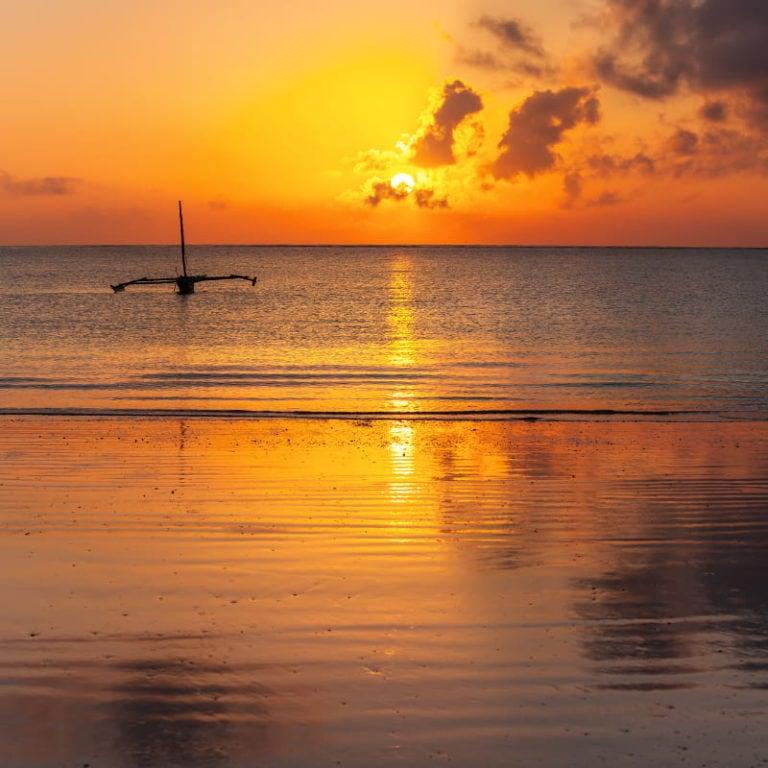 Mombasa Tropical Beach Sunset