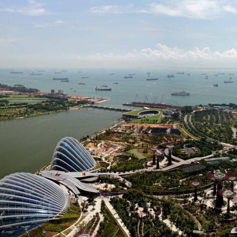 Marina Bay Aerial View