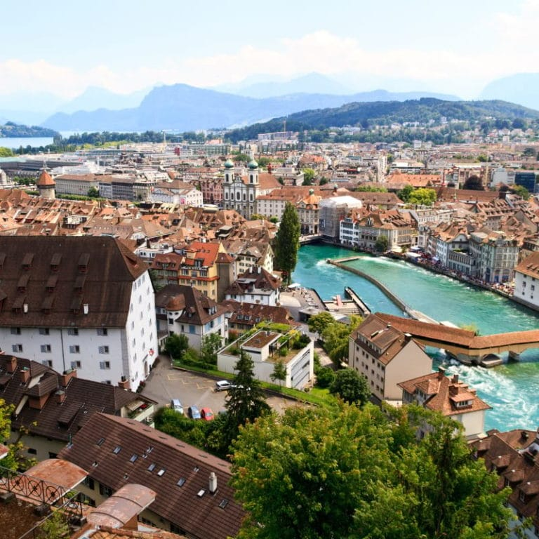 Aerial View of Lucerne
